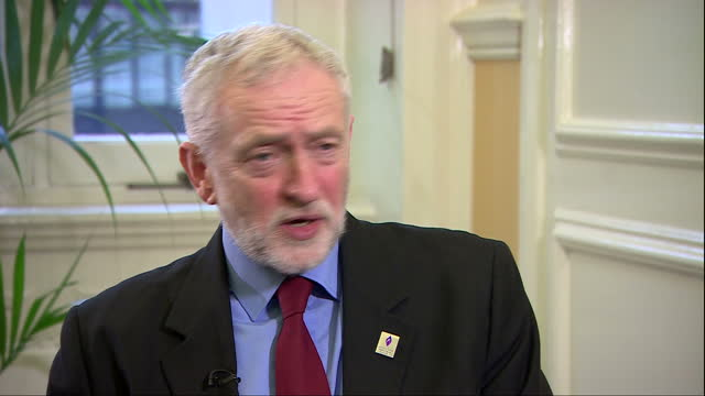 interior interview with jeremy corbyn leader of the labour party re theresa may meeting w/ donald trump want her to be blunt can not approach... - waterboarding stock videos & royalty-free footage