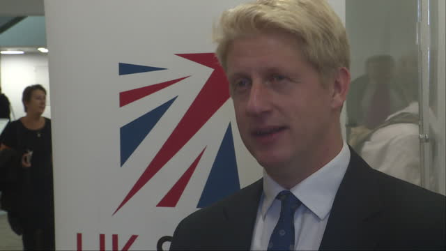 interior interview with jo johnson, universities and science minister, at the launch of the sentinel-5 air quality monitoring satellite on 13 october... - astronomy stock videos & royalty-free footage
