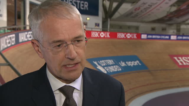 interior interview with jonathan browning chairman of british cycling speaking about working to avoid any conflict of interest between team sky and... - verification stock videos & royalty-free footage