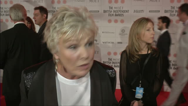 interior interview with julie walters on lifetime achievement award at the old billingsgate on december 08, 2013 in london, england. - 生涯功労賞点の映像素材/bロール