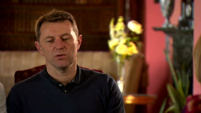interior interview with kate and gerry mccann, parents of missing madeleine mccann before the 10th anniversary of her disappearance on 30 april, 2017... - kate mccann stock-videos und b-roll-filmmaterial