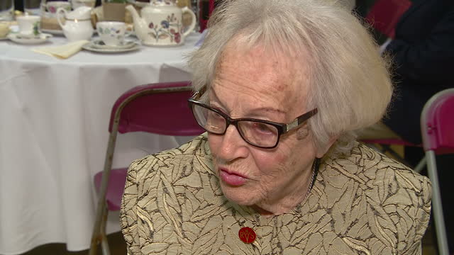 Interior interview with Lillian Murphy attendee of the Royal Volunteers Service Tea Party talking about meeting Camilla Duchess of Cornwall on...
