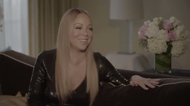 interior interview with mariah carey about the us presidential race on january 30 2016 in los angeles california - mariah carey stock-videos und b-roll-filmmaterial
