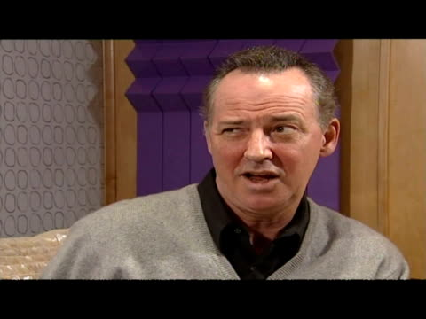 interior interview with michael barrymore. - michael barrymore stock-videos und b-roll-filmmaterial