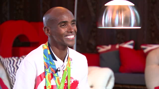 Interior interview with Mo Farah Team GB Distance Runner and Rio 2016 Double Gold Medalist talking about the success of Team GB the legacy after the...