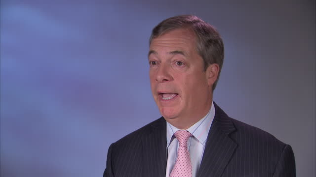 interior interview with nigel farage mep on 'leave means leave' on 18 january 2019 in london, united kingdom - mep stock videos & royalty-free footage