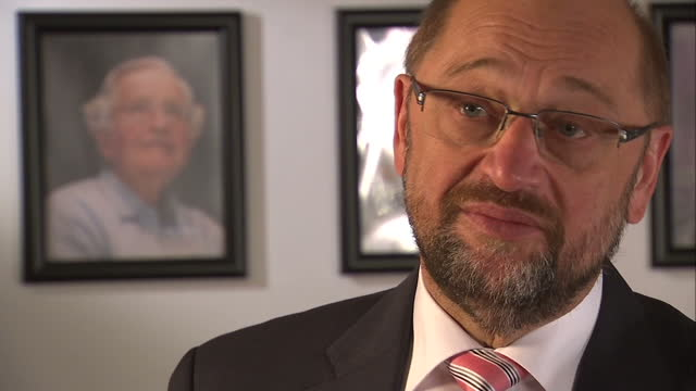 Interior interview with President of European Parliament Martin Schulz about not being able to speculate about Brexit negotiations as Article 50 has...