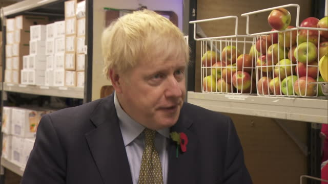 interior interview with prime minister boris johnson on hospital food and the removal of free school meals on 26 october 2020 in reading, united... - meal stock videos & royalty-free footage