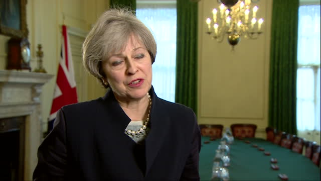 interior interview with prime minister theresa may, speaks about article 50 working for the whole of the uk, including scotland, and urges scottish... - politics and government stock videos & royalty-free footage