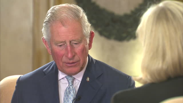 Interior interview with Prince Charles following his keynote speech at the Our Ocean conference speaking about the importance of tackling climate...