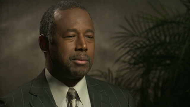 vídeos de stock, filmes e b-roll de interior interview with republican presidential hopeful ben carson about his views on climate change and that it is not the primary political issue... - eleição primária