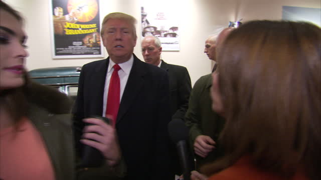 interior interview with republican presidential hopeful donald trump on january 19 2016 in ames iowa - us republican party 2016 presidential candidate stock videos & royalty-free footage