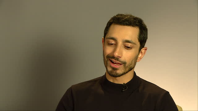 Interior interview with Riz Ahmed Rogue One actor at Leicester Square on December 13 2016 in London England