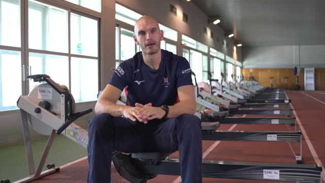 interior interview with sbisi mohamed about team gb rowing in sierra nevada, span on the 6th december 2019. - sport rowing stock videos & royalty-free footage