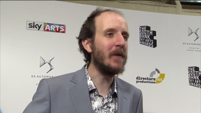 interior interview with screenwriter and playwright jack thorne speaking about being nominated in the theatre category for his stage adaptation of... - scriptwriter stock videos and b-roll footage