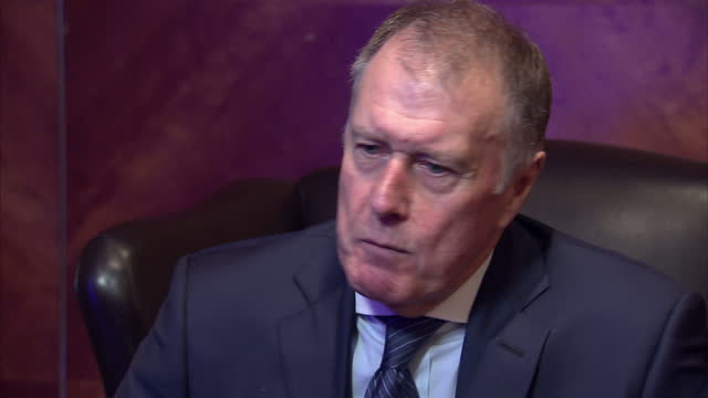 "interior interview with sir geoff hurst, member of the england football team that won the 1966 world cup, speaking about it feeling ""surreal"" to... - final round stock videos & royalty-free footage"