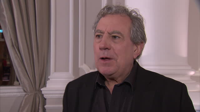 interior interview with terry jones on the reunion monty python stars announce reunion stage show on november 21 2013 in london england - monty python stock-videos und b-roll-filmmaterial
