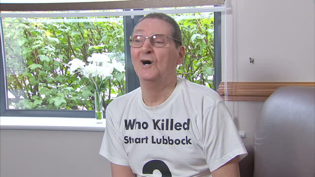interior interview with terry lubbock, the father of stuart lubbock, who was found dead in the swimming pool of the entertainer michael barrymore on... - michael barrymore stock-videos und b-roll-filmmaterial