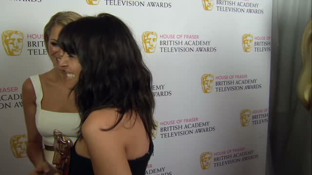 interior interview with tess daly claudia winkleman presenters of strictly come dancing on may 08 2016 in london england - claudia winkleman stock-videos und b-roll-filmmaterial