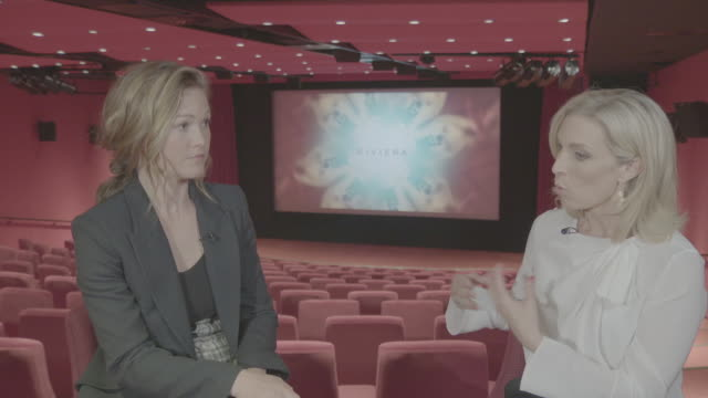 interior interview with the actor julia stiles on her character in the series riviera on 10 may 2019 in london united kingdom - julia stiles stock videos and b-roll footage