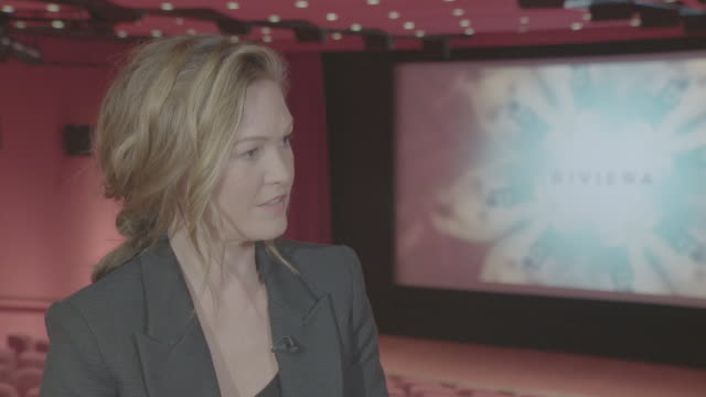 interior interview with the actor julia stiles on her past film roles and upcoming film 'hustlers' on 10 may 2019 in london united kingdom - julia stiles stock videos and b-roll footage