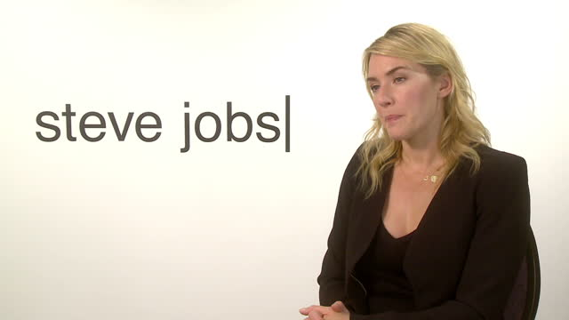 Interior interview with the actress Kate Winslet on her role in the Steve Jobs biopic on October 18 2015 in London England