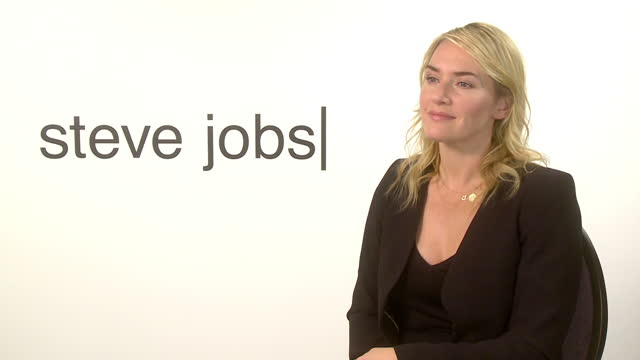 interior interview with the actress kate winslet on her role in the steve jobs biopic on october 18 2015 in london england - 伝記映画点の映像素材/bロール