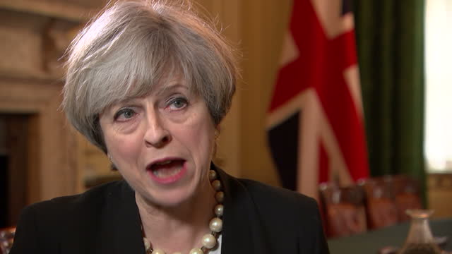 Interior interview with Theresa May Prime Minister re Nicola Sturgeon demanding a referendum before Artcile 50 is completed and will she sanction it...