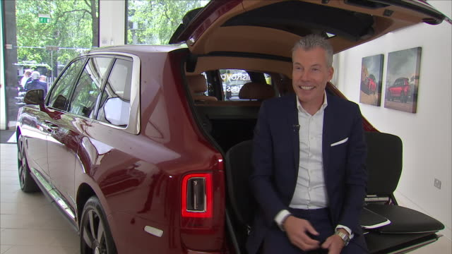 interior interview with torsten mullerotvos chief executive of rolls royce about the new rolls royce cullinam on 10 may 2018 in london united kingdom - rolls royce stock videos & royalty-free footage