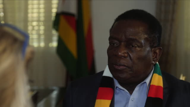 interior interview with zimabawe's president elect emmerson mnangagwa part eight on august 06 2018 in harare zimbabwe - zimbabwe stock videos & royalty-free footage