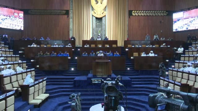 interior minister of sudan ahmed bilal osman addresses the national assembly in khartoum on the number of arrests made during recent protests - government minister stock videos & royalty-free footage