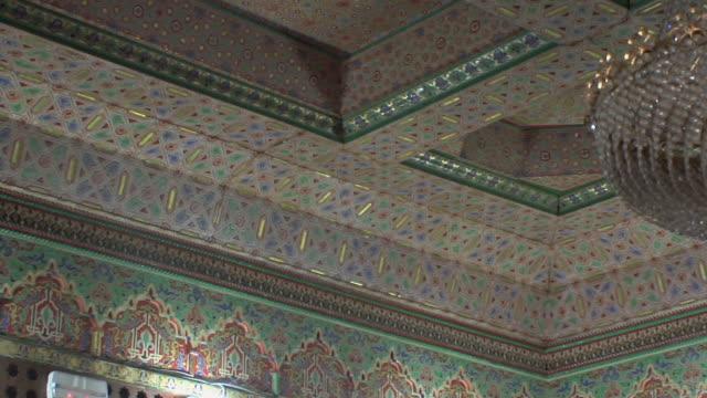 CU LA PAN Interior of 19th century pharmacy with original tilework, Fez, Morocco