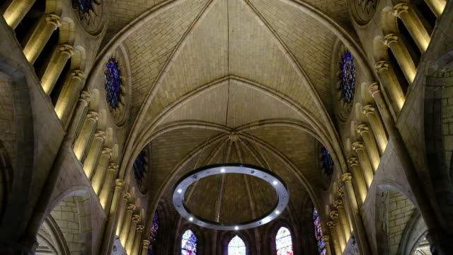 interior of a church in galicia - galicia stock videos & royalty-free footage