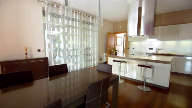 HD: Interior Of A Kitchen With Dining Table