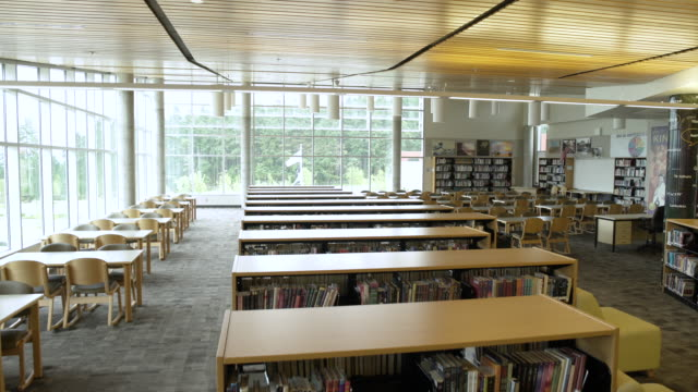 Interior of a library of a school