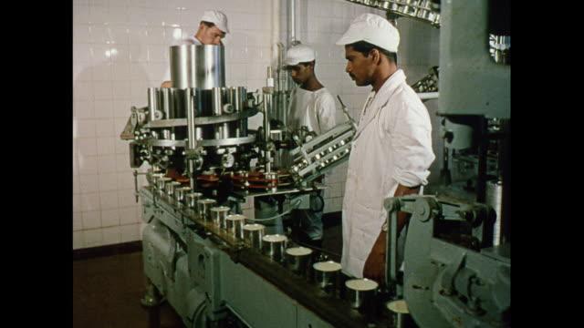 montage interior of a milk factory in ceylon - condensed milk stock videos & royalty-free footage
