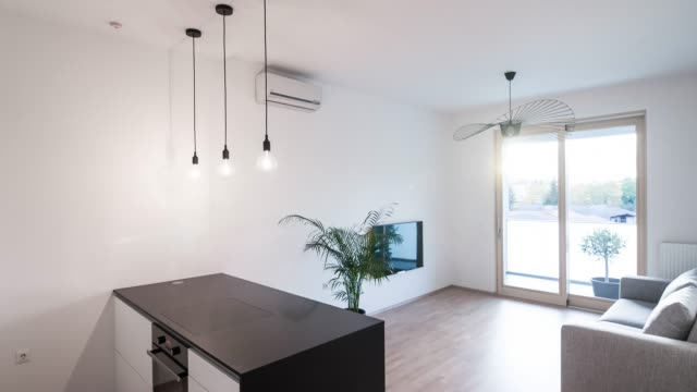 interior of a new modern apartment - domestic kitchen stock videos & royalty-free footage