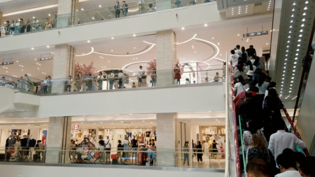 interior of a shopping mall,xi'an,china. - negative emotionen stock-videos und b-roll-filmmaterial