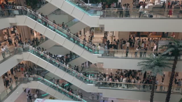 interior of a shopping mall,xi'an,china. - shopping centre stock videos & royalty-free footage
