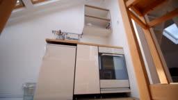 Interior of a small kitchen