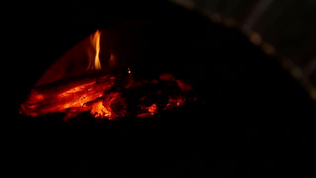 interior of a wood fired grill - pizza oven stock videos and b-roll footage