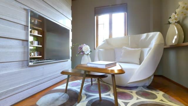 interior of big living room   4k