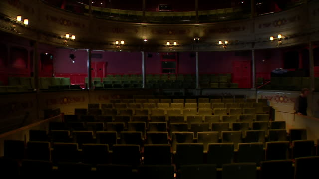 interior of bristol old vic theatre that we will benefit from a share of the government's culture recovery fund brought in due to coronavirus pandemic - making money stock videos & royalty-free footage