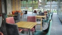 Interior of cafeteria