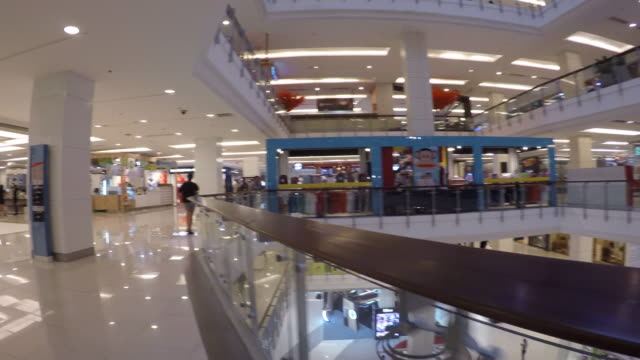 interior of central world shopping centre on ratchadamri road, bangkok, thailand, southeast asia, asia - shopping centre stock videos & royalty-free footage