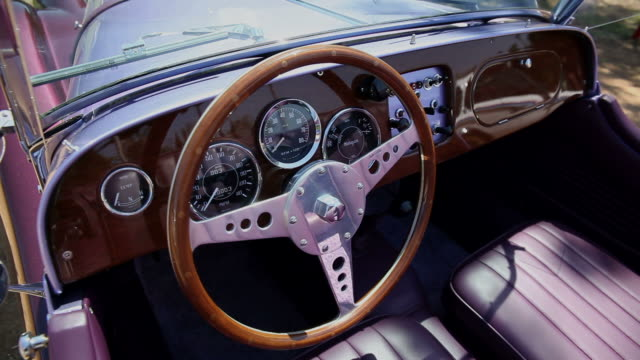 HD: Interior of classic car