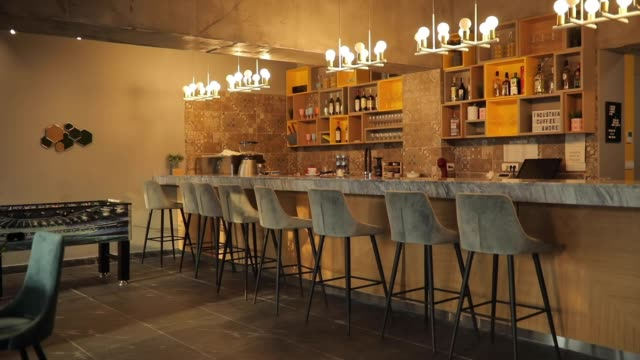 interno della caffetteria - bar video stock e b–roll