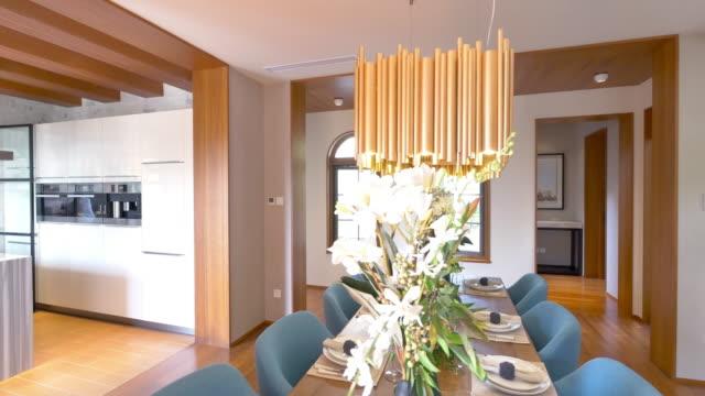 interior of dining room  4k
