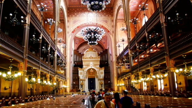 interior of dohã¡ny street synagogue -the jewish synagogue of budapest - judaism stock videos & royalty-free footage