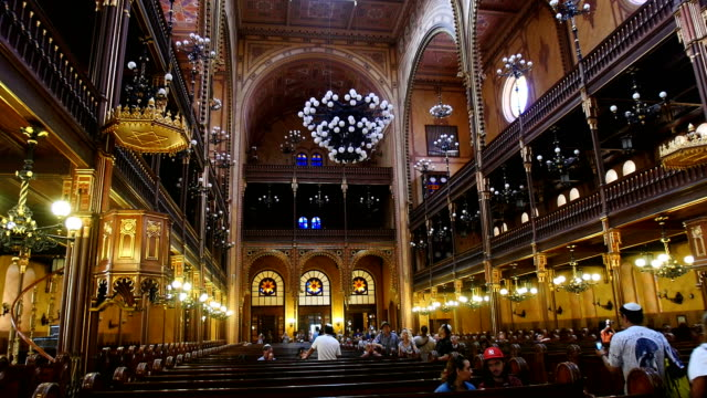 Interior of Dohány Street Synagogue -The Jewish Synagogue of Budapest